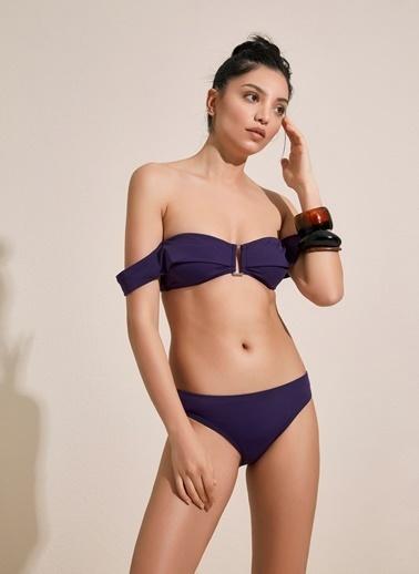 Morhipo Beach Tokalı Straplez Bikini Mor